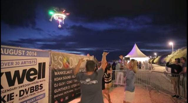 The Party Drone! Carrying 3 speakers 450 watts!