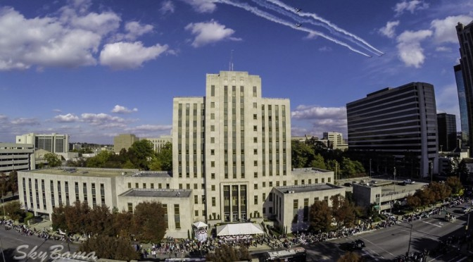 Planes Flying over City Hall