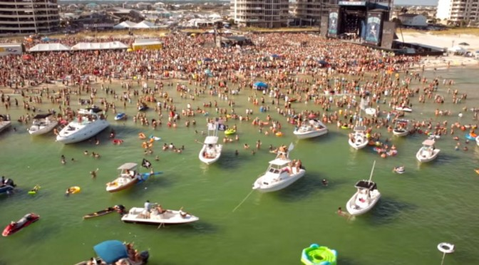 Kenny Chesney Music Video Uses Drones While Performing @ Flora-Bama