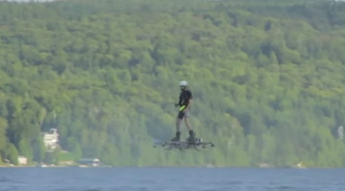 Video of the Farthest Manned Flight on a Hoverboard