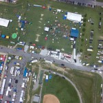 Alabaster Cityfest overhead aerial photo
