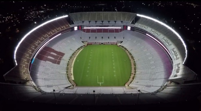 Stunning Drone video of Crimson Tide head football coach Nick Saban's Daughter's Wedding over Bryant Denny Stadium.
