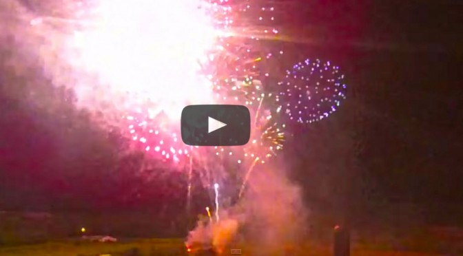 Drone View of July 3rd Fireworks – Alabaster Grain Silo