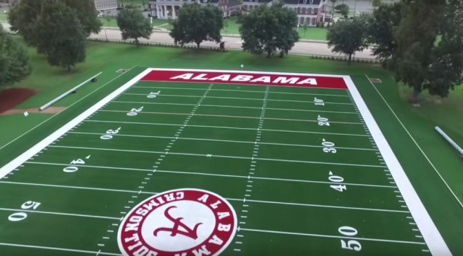 Alabama's new Million Dollar Band Practice Field – Drone Video