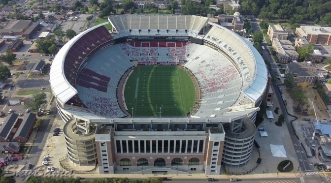 Drone footage Of Bryant Denny Stadium – Roll Tide!