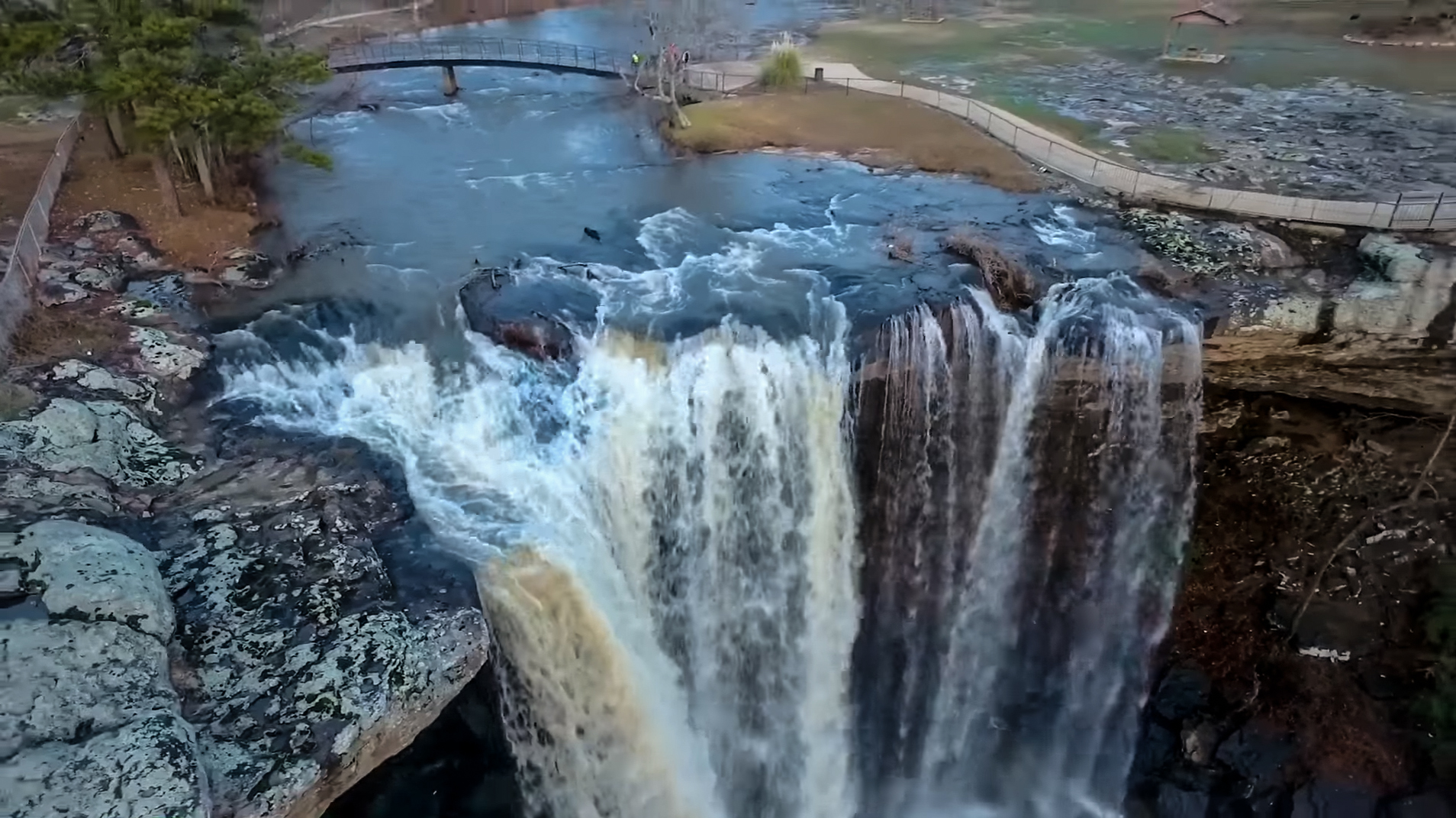 Noccalula Falls is Back! | Alabama Aerial Photos