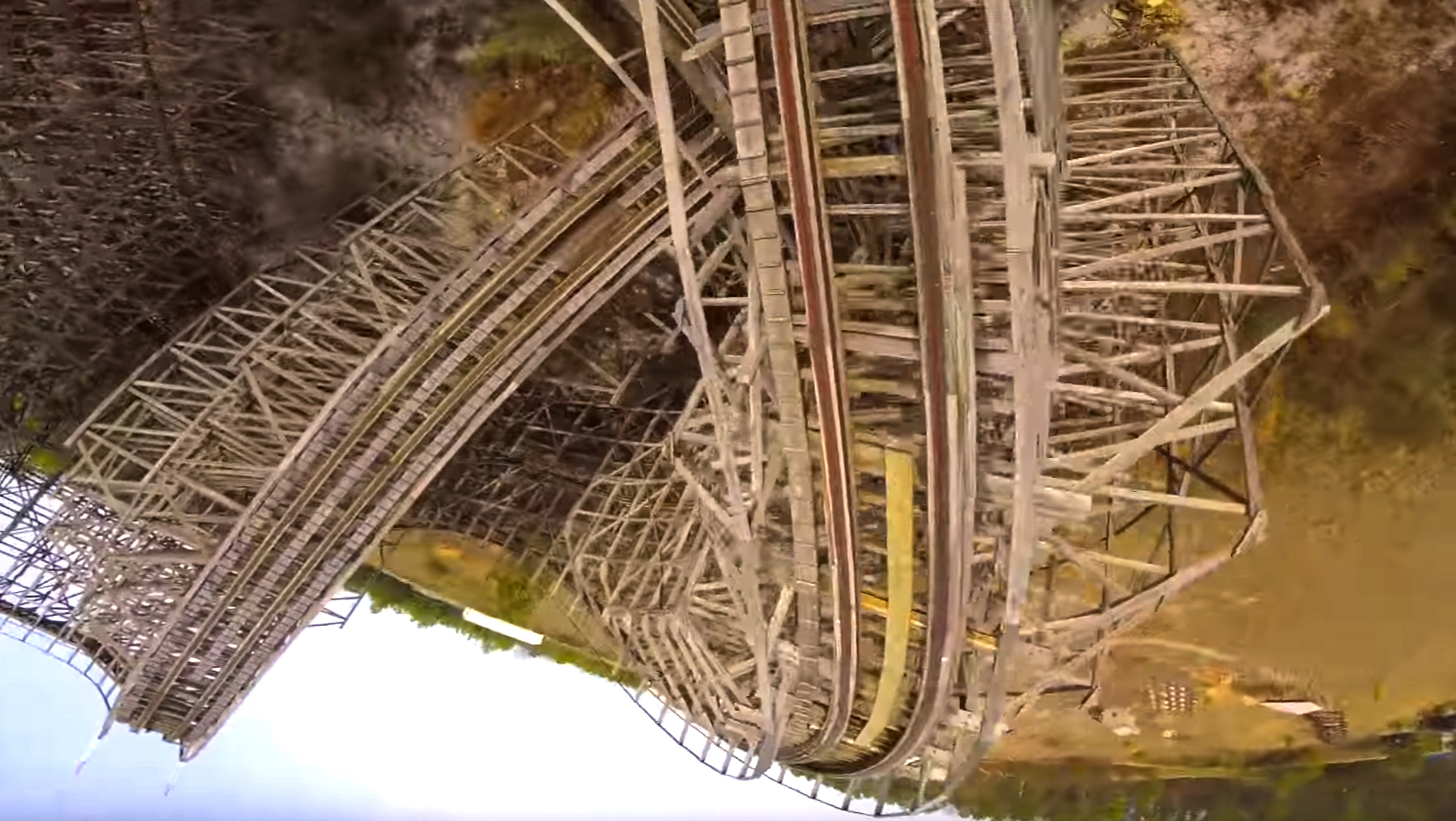 Drone Rips the Rampage Roller Coaster