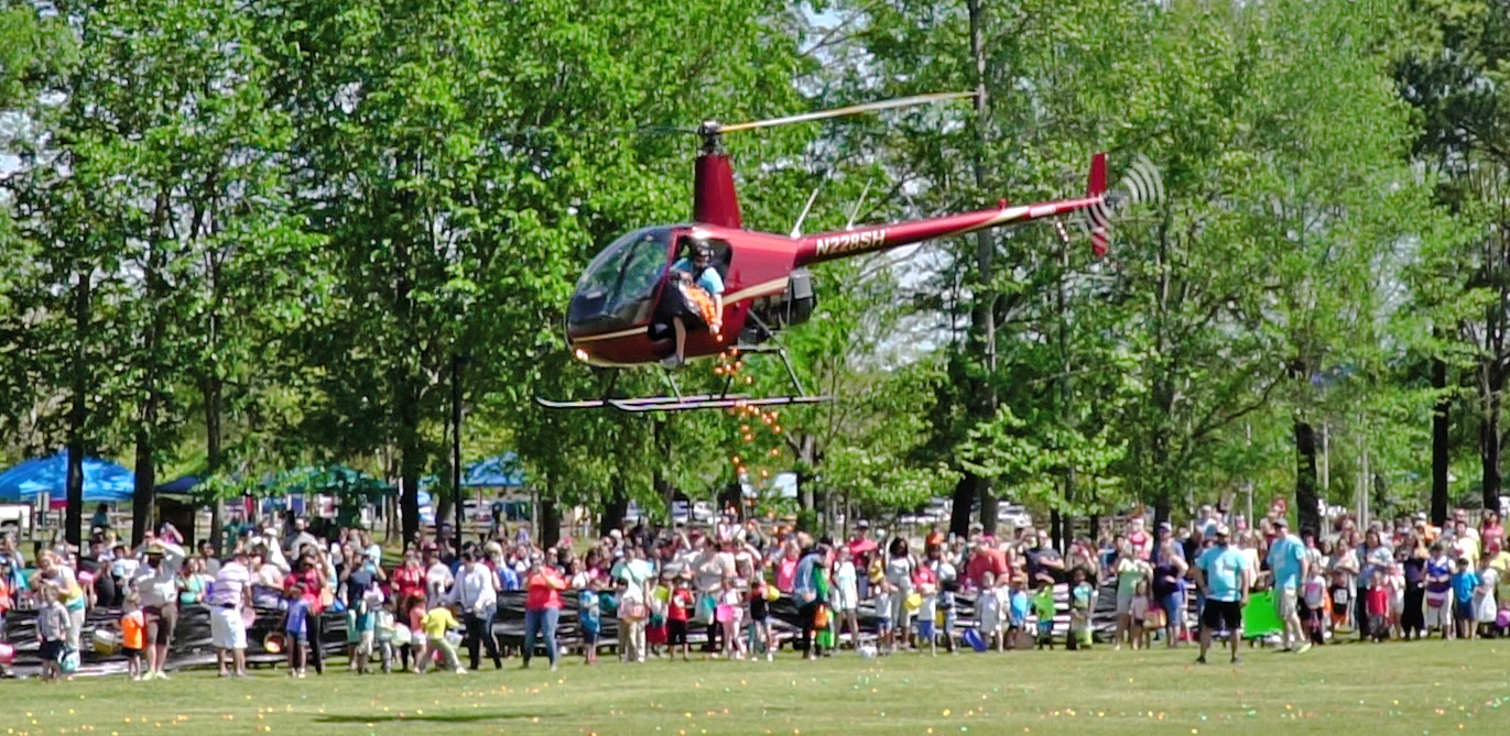 Alabaster Helicopter Egg Drop at Veterans Park