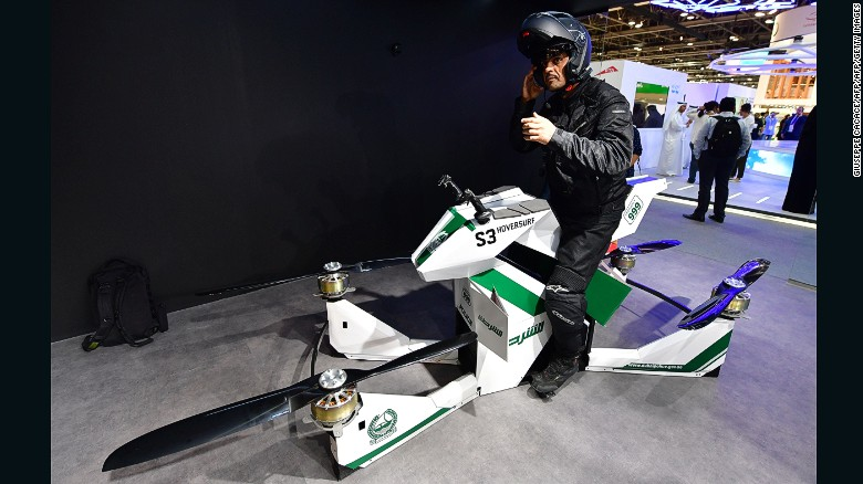 Dubai Police Test Flying Motorbike